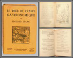Vente Édouard dulac - le tour de france gastronomique - 1926 - cuisine