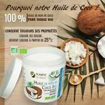 Vente huile de coco bio cuisine cheveux peau vierge première pression a froid 500 ml