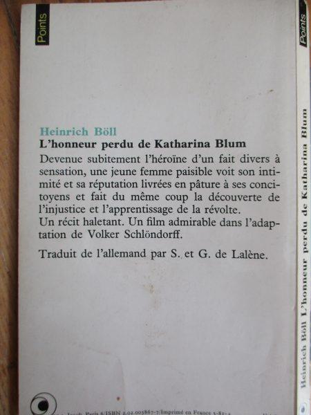 Boll Heinrich   L U0026 39 Honneur Perdu De Katharina Blum