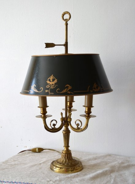 Lampe Bouillotte Style Empire En Bronze Dore Mes Occasions Com