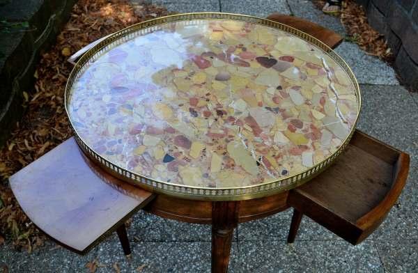 Table Bouillotte De Style Louis Xvi En Acajou 19è Mes