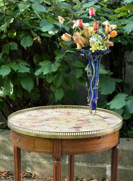 Table Bouillotte De Style Louis Xvi En Acajou 19e Mes Occasions Com