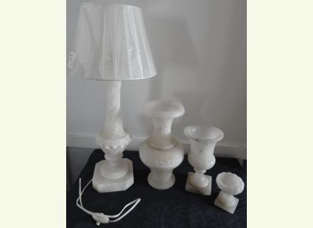 lot vases lampe alb tre mes. Black Bedroom Furniture Sets. Home Design Ideas